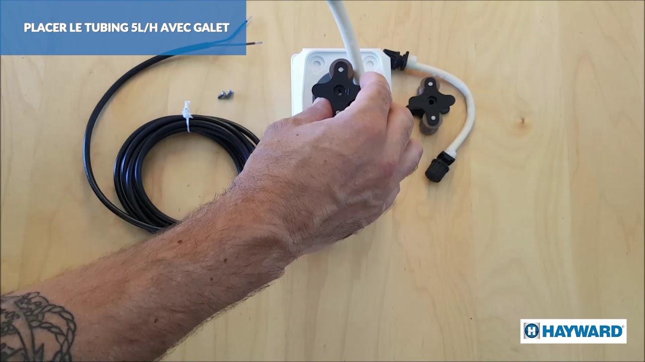 AquaRite +® : changer le tubing sur la pompe péristaltique